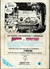 Verso de Fantom Vol.1 (Vertice - 1972) -5- El espíritu de Frankenstein