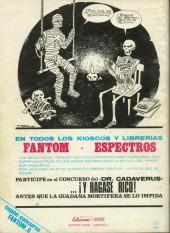 Verso de Fantom Vol.1 (Vertice - 1972) -8- Ejército de cadáveres