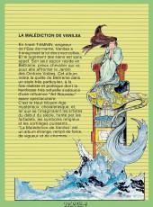Verso de La malédiction de Vanilsa