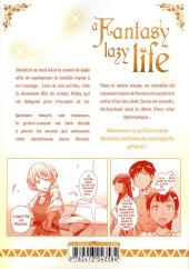 Verso de A Fantasy lazy life -9- Volume 9