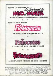 Verso de Frimousse et Frimousse-Capucine -180- Premier bal