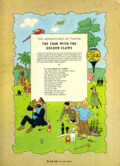 Verso de Tintin (The Adventures of) -9b1964- The crab with the golden claws