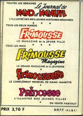Verso de Frimousse et Frimousse-Capucine -Rec28- Album N°28 (du n°154 au n°158)