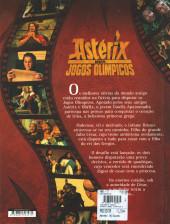 Verso de Astérix (hors série) (en portugais) -C07- Astérix nos Jogos Olímpicos - O álbum do filme
