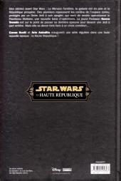 Verso de Star Wars - La Haute République -1- Ordalie