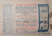 Verso de Alain la Foudre (Librairie moderne) -7- La flèche écarlate