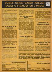 Verso de Hazañas del Oeste -190- Número 190