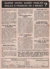 Verso de Hazañas del Oeste -191- Número 191