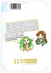 Verso de Classroom for heroes – the return of the former brave -11- Tome 11