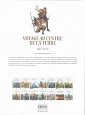 Verso de Les grands Classiques de la littérature en bande dessinée (Glénat/Le Monde) -5a2021- Voyage au centre de la Terre