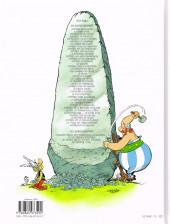 Verso de Astérix -39- Astérix et le Griffon