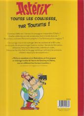Verso de Astérix (Autres) - Astérix - Toutes les coulisses, par Toutatis !