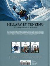 Verso de Les grands Personnages de l'Histoire en bandes dessinées -70- Hillary et Tenzing