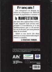 Verso de Oyonnax - Ils ont osé - Le maquis défile le 11 novembre 1943