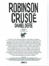 Verso de Clássicos da Literatura em BD -13- Robinson Crusoé