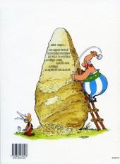 Verso de Astérix -29a1994- La rose et le glaive