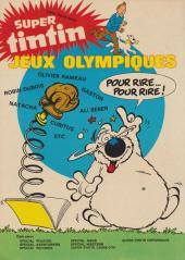 Verso de (Recueil) Tintin Super -8- Science-fiction