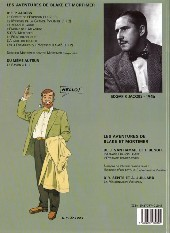 Verso de Blake et Mortimer (Les Aventures de) -6c2000- La Marque Jaune