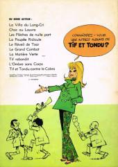 Verso de Tif et Tondu -18- Le roc maudit