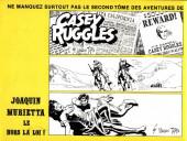 Verso de Casey Ruggles -1- 1849... l'appel de l'or