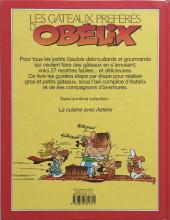 Verso de Astérix (Autres) -7- Les Gâteaux préférés d'Obélix pour petits Gaulois débrouillards et gourmands
