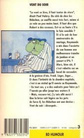 Verso de Les bidochon -8Poch- Vent du soir
