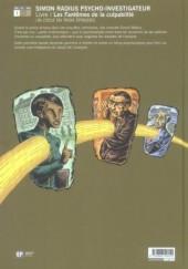 Verso de Psycho-Investigateur / Simon Radius Psycho-Investigateur -1- Les Fantômes de la culpabilité