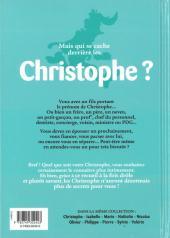Verso de L'encyclopédie des Prénoms en BD -7- Christophe