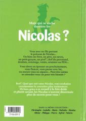 Verso de L'encyclopédie des Prénoms en BD -6- Nicolas