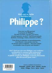 Verso de L'encyclopédie des Prénoms en BD -8- Philippe