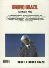 Verso de Bruno Brazil -10b1985- Dossier Bruno Brazil