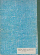 Verso de (Recueil) Spirou (Album du journal) -159- Spirou album du journal