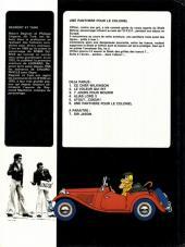 Verso de Clifton -6- Une panthère pour le colonel