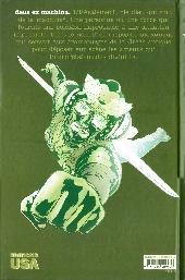Verso de Ex Machina (Editions USA & Panini) -1- Les Cent Premiers Jours