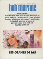 Verso de Bob Morane 3 (Lombard) -20a1976- Les géants de Mu