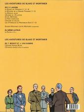 Verso de Blake et Mortimer (Les Aventures de) -13b1999- L'affaire Francis Blake