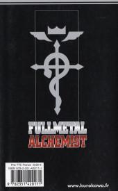 Verso de FullMetal Alchemist -1- Tome 1