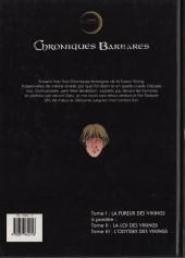 Verso de Chroniques Barbares -1- La fureur des Vikings