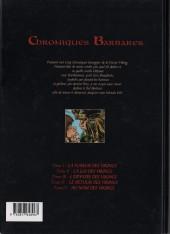Verso de Chroniques Barbares -5- Au nom des Vikings