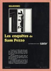 Verso de Sam Pezzo (Les enquêtes de) -1- Tome 1