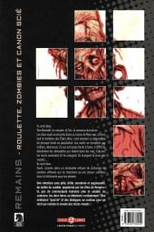Verso de Remains - Roulette, zombies et canon scié