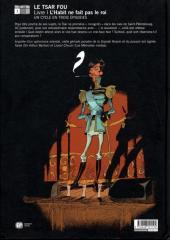 Verso de Le tsar fou -1- L'habit ne fait pas le roi