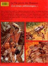 Verso de La vie privée des Hommes -1- Les temps préhistoriques