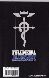 Verso de FullMetal Alchemist -3- Retour aux Sources