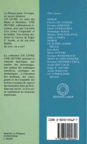 Verso de (AUT) Jacobs, Edgar P. -7- Edgar P. Jacobs - Un livre, une œuvre