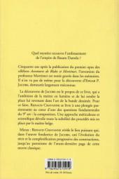 Verso de (AUT) Jacobs, Edgar P. -17- Edgar P. Jacobs & le Secret de l'explosion