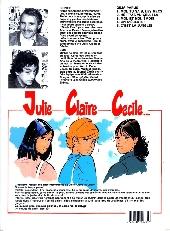 Verso de Julie, Claire, Cécile -5- C'est la jungle!