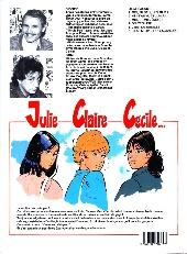 Verso de Julie, Claire, Cécile -6- C'est quand les vacances?