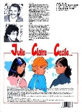 Verso de Julie, Claire, Cécile -4- On s'éclate!
