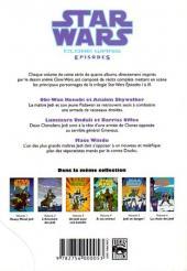 Verso de Star Wars - Clone Wars Episodes -2- L'aventure des Jedi
